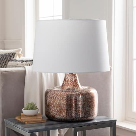"Maunie Antiqued Mid-Century 23.5-inch Table Lamp - 23.5""H x 18""W x 18""D"