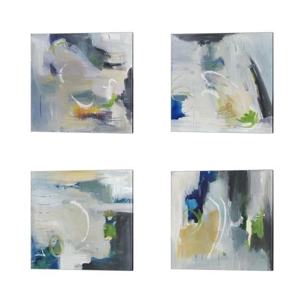 Joyce Combs 'Floating Fantasies' Canvas Art (Set of 4)