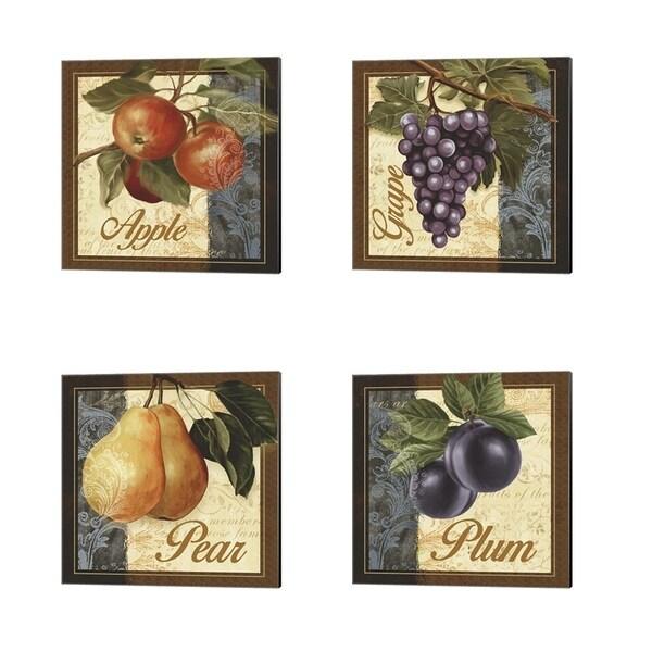 Abby White 'Fruit Illustration' Canvas Art (Set of 4)