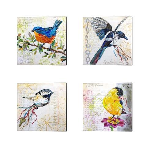 Elizabeth St. Hilaire 'Happy Bird' Canvas Art (Set of 4)