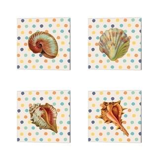 Tammy Apple 'Confetti Shell' Canvas Art (Set of 4)