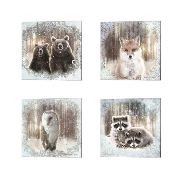 Bluebird Barn 'Enchanted Winter' Canvas Art (Set of 4)