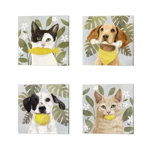 Victoria Borges 'Pet Life' Canvas Art (Set of 4)