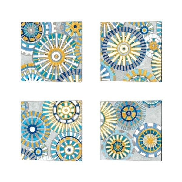 Debbie Banks 'Circle Delight' Canvas Art (Set of 4)