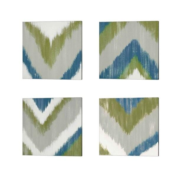 Rita Vindedzis 'Zigs N Zags' Canvas Art (Set of 4)