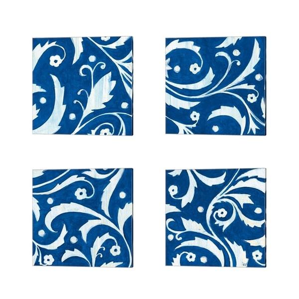 Hope Smith 'Tangledn Blue' Canvas Art (Set of 4)