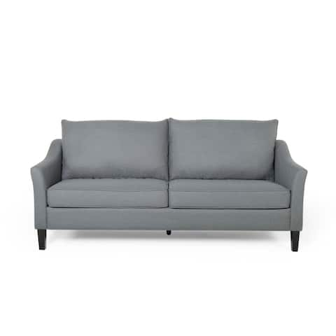 Almeda Contemporary Fabric 3 Seater Sofa by Christopher Knight Home