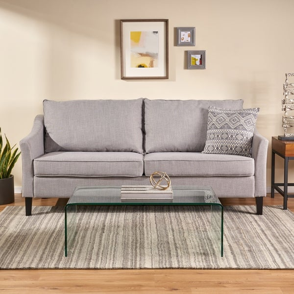 Almeda Contemporary Fabric 3 Seater Sofa by Christopher Knight Home. Opens flyout.