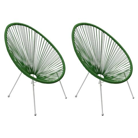 Tenir Light Green Outdoor Patio Chairs (Set of 2) by Havenside Home
