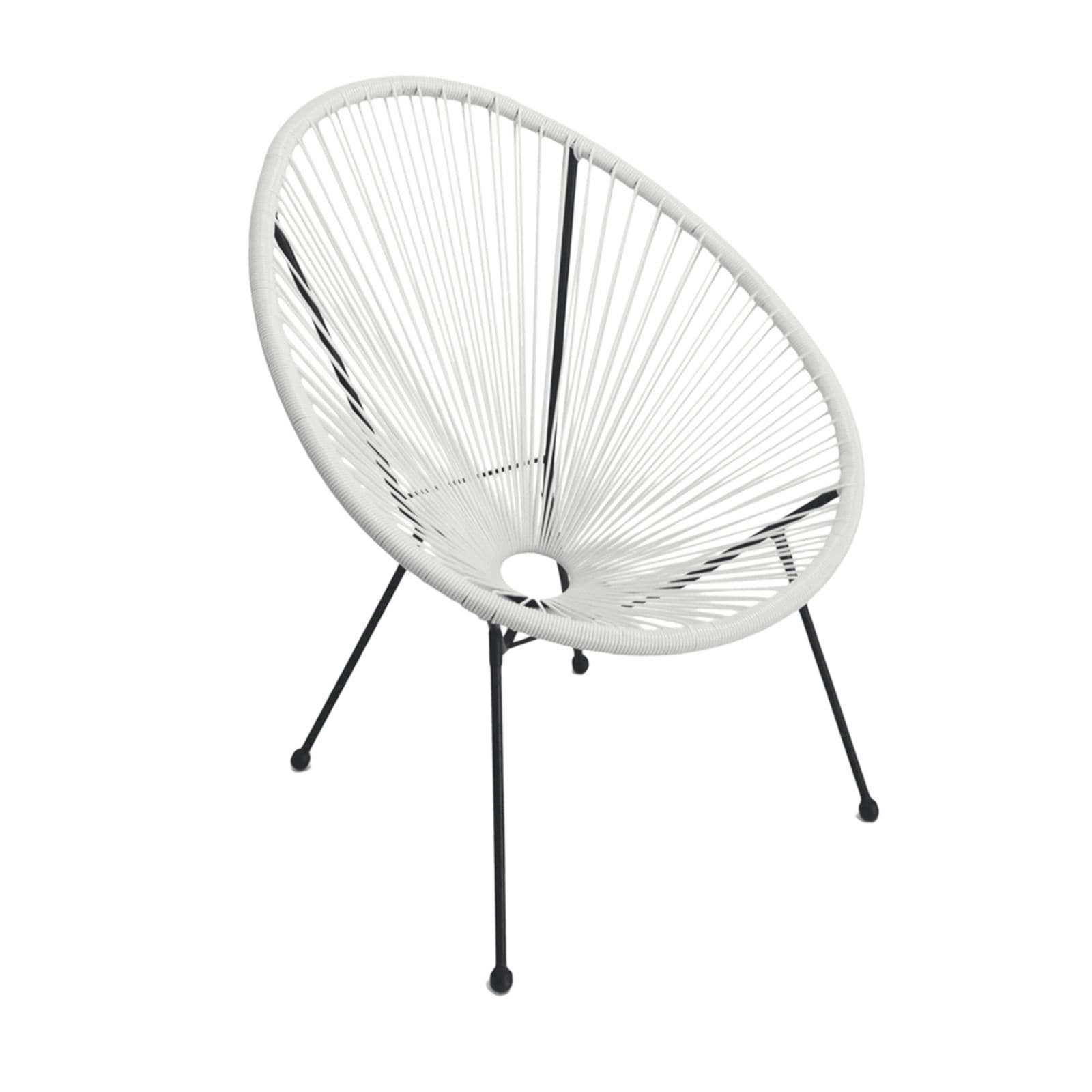 Tenir White Outdoor Patio Chairs