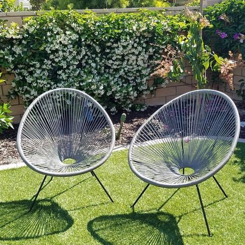 Tenir Grey Outdoor Patio Chairs (Set of 2) by Havenside Home