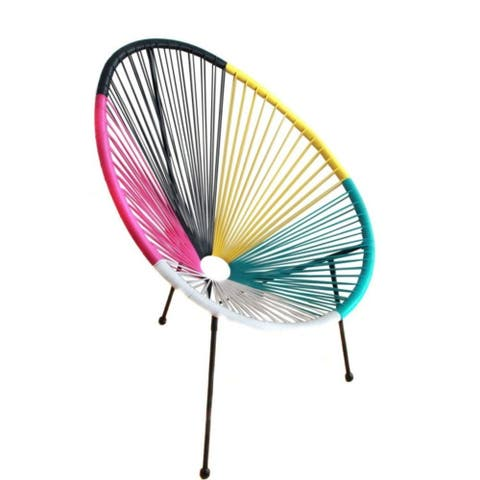 Tenir Mixed Colors Outdoor Patio Chair Single Chair by Havenside Home