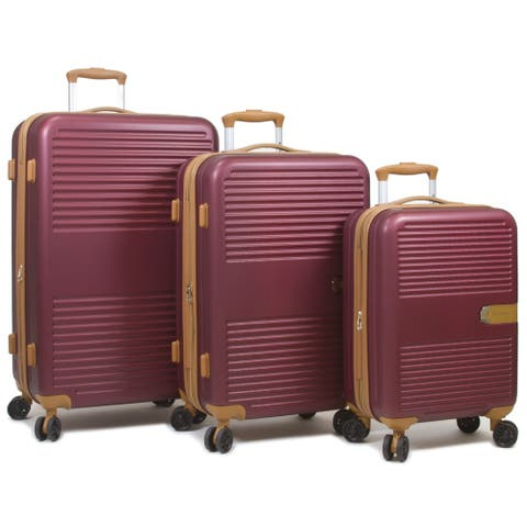3-Pc. Smart Hardside Luggage with USB Port Charger On Carry-on
