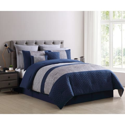 VCNY Home Winona Embroidered 10-Piece Comforter Set