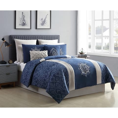 VCNY Home Xavier 10-Piece Embroidered Comforter Set
