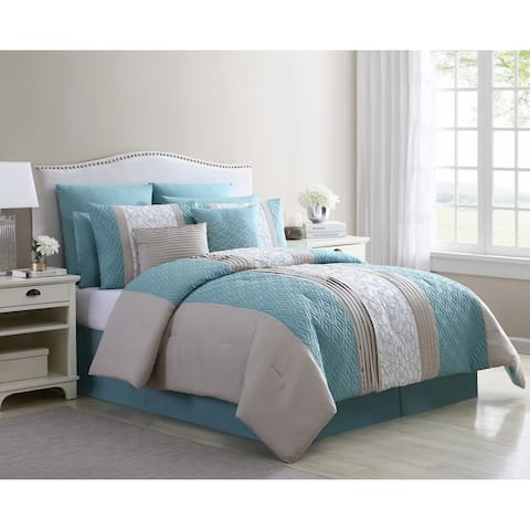 VCNY Home Stef 10-Piece Embroidered Comforter Set
