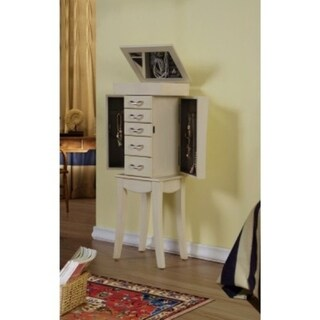Link to Paris Anitque White Jewelry Armoire Cabinet Organizer Similar Items in Bedroom Furniture