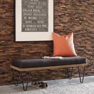 Link to Carbon Loft Xenophen Black and Natural Upholstered Accent Bench Similar Items in Living Room Furniture