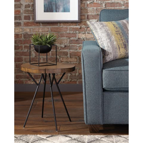 Carbon Loft Ulysis Natural Oak and Matte Black Accent Table