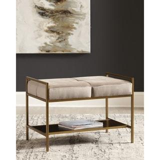Link to Strick & Bolton Elvie Velvet Storage Bench Similar Items in Living Room Furniture