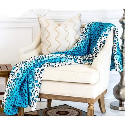 Super Soft Micro Plush Flannel Bed Leopard Skin Print Blanket