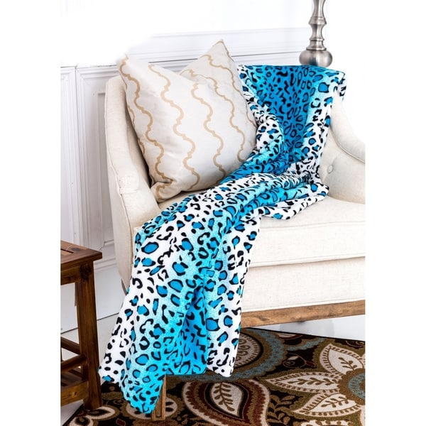 Super Soft Micro Plush Flannel Bed Leopard Skin Print Blanket. Opens flyout.