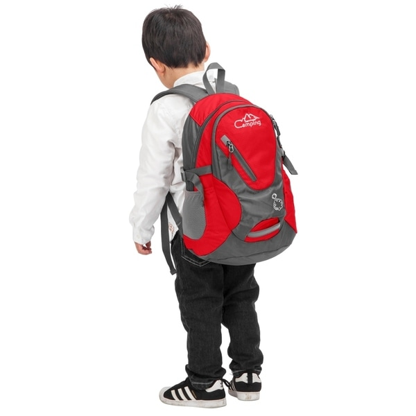 Waterproof Backpack Sport for Hiking Camping Cycling Red Capacity 20L For Kids
