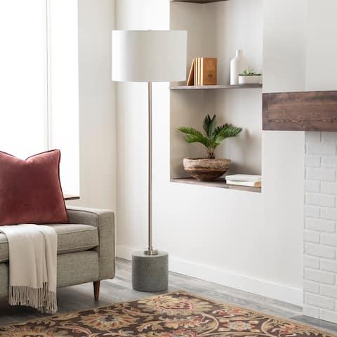 "Loma Modern Concrete 62-inch Floor Lamp - 62""H x 18""W x 18""D"