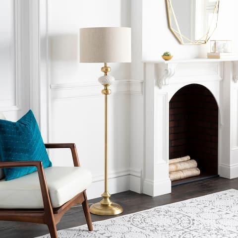 "Tolna Traditional Glazed Ceramic 60-inch Floor Lamp - 60""H x 16""W x 16""D"