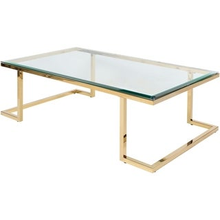 Tenes Glass and Metal Coffee Table