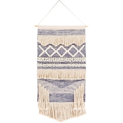 "Tarsilla Hand Woven Cotton 24 x 36 Wall Tapestry - 24"" x 36"""