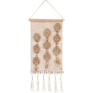 """Mirron Hand Woven 14 x 22 Boho Shag Wall Tapestry - 14"""" x 22"""""""