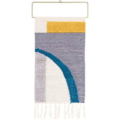 """Boulle Hand Woven 16 x 26 Mid-Century Wall Tapestry - 16"""" x 26"""""""