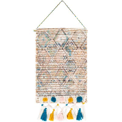 "Elda Hand Woven 14 x 22 Printed Boho Wall Tapestry - 14"" x 22"""
