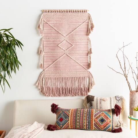 "Sanae Hand Woven 24 x 36 Tasseled Wall Tapestry - 24"" x 36"""