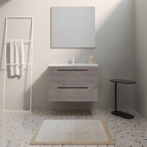 "24"" Modern Bathroom Vanity Dakota Set Chicago Oak Wood 24 x 24 x 18"" Cabinet + Sink"