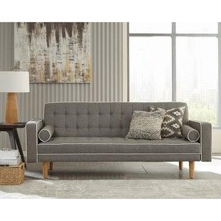 Carson Carrington Hogstaboda Grey and White Tufted Tight Back Sofa Bed