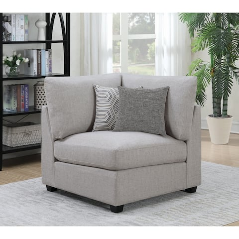 Cambria Grey and Black Upholstered Corner