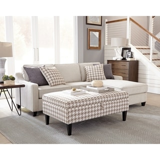 Porch & Den Straughan Upholstered L-shape Sectional Sofa