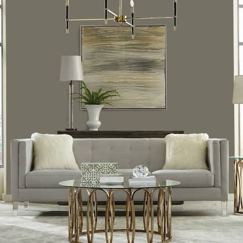 Carson Carrington Hogstaby Light Grey and Clear Tight Back Sofa