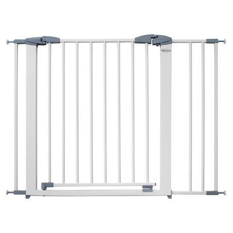 Graco Safe n' Secure Metal Safety Gate - Pressure Mounted Walk Thru Baby Gate