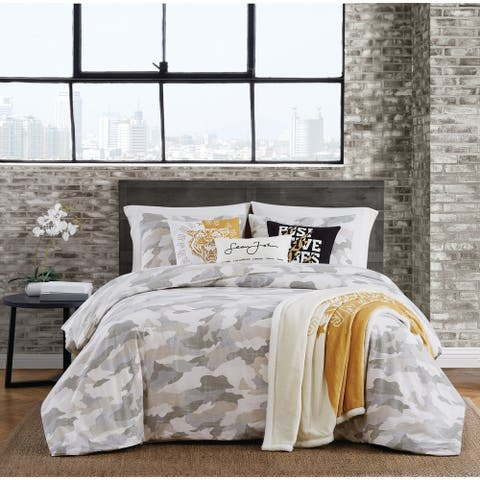 Sean John Garment Washed Camo 3 Piece Duvet Cover Set