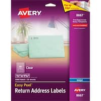 Avery Matte Clear Easy Peel Address Labels