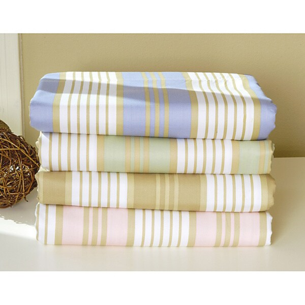 Printed Cabana Stripe 400 Thread Count Sheet Set w/ Bonus Pillowcases