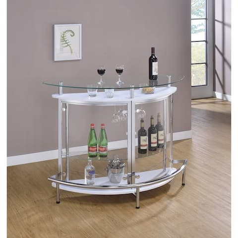 Strick & Bolton Alberto Metal/ Glass Semi-circle Bar Unit
