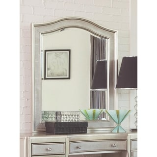 Link to Brielle Metallic Platinum Arched Top Vanity Mirror Similar Items in Bedroom Furniture