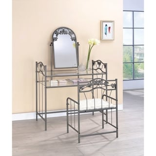 Link to Stacia Pewter and Ivory 2-piece Vanity Set Similar Items in Bedroom Furniture