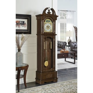 Link to Milton Goldern Brown Grandfather Clock with Chime Similar Items in Decorative Accessories