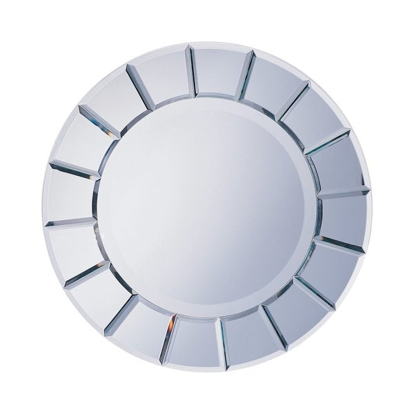 Sandoval Beveled Round Wall Mirror - Clear Mirror
