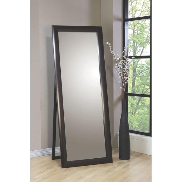 Edmonds Cappuccino Rectangular Floor Mirror